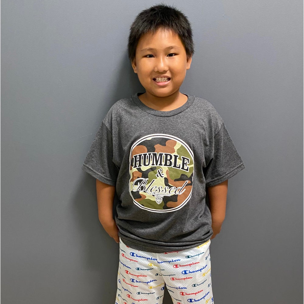 Image of Humble N Blessed Camo Kids T-Shirt