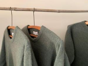 Image of Merino / Possum / Silk Sweater - Smoke Green