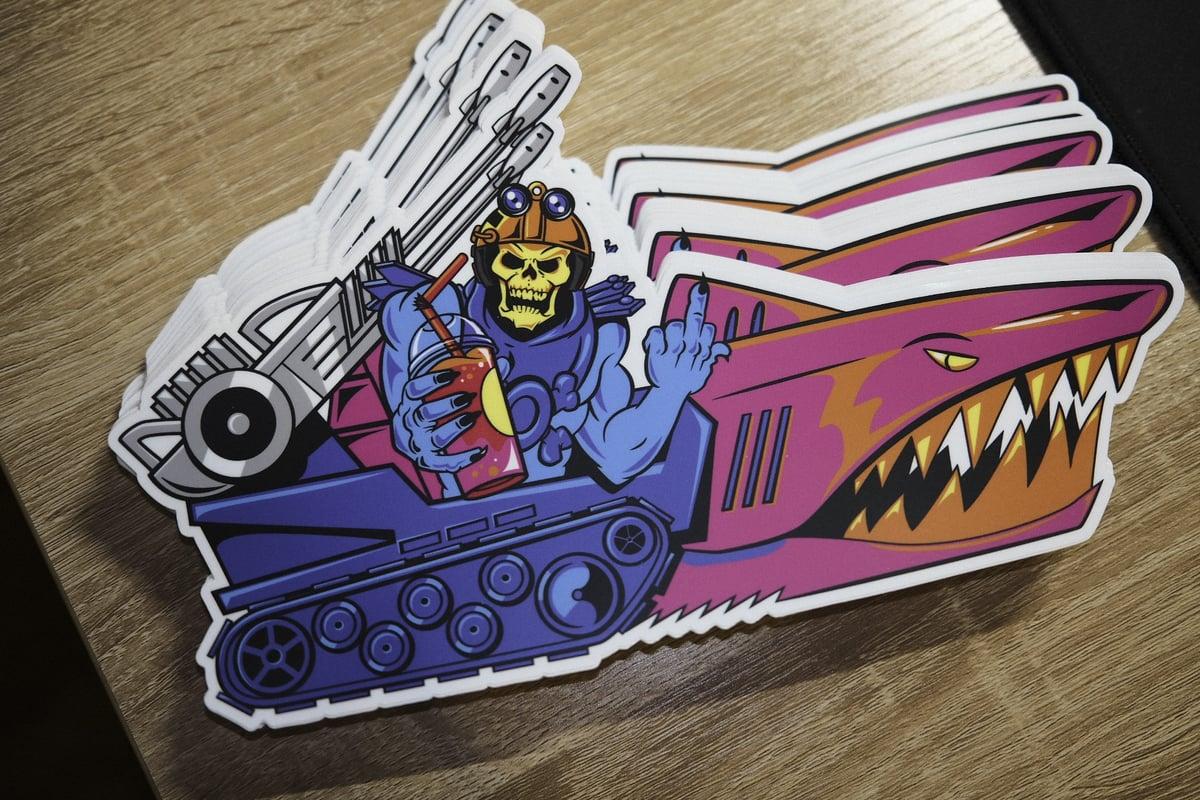 "Image of KookTruck 10"" Sticker"