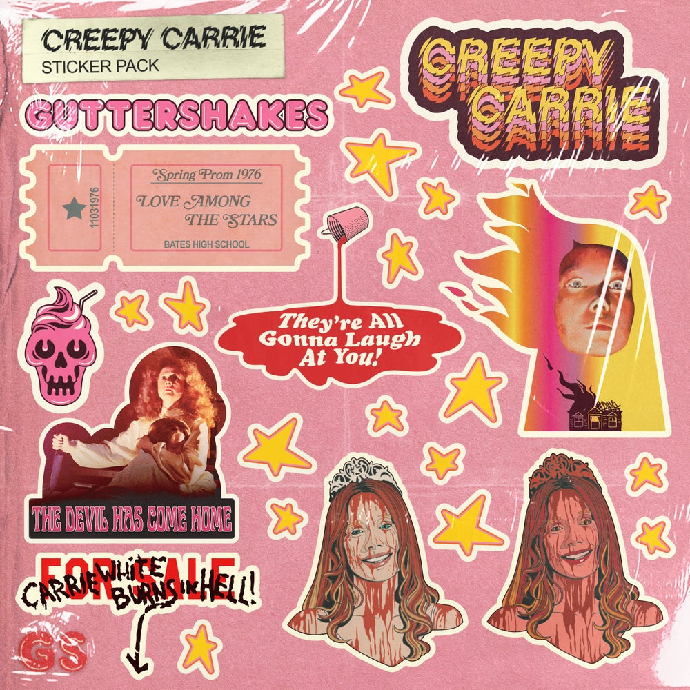 Image of Creepy Carrie Sticker Pack