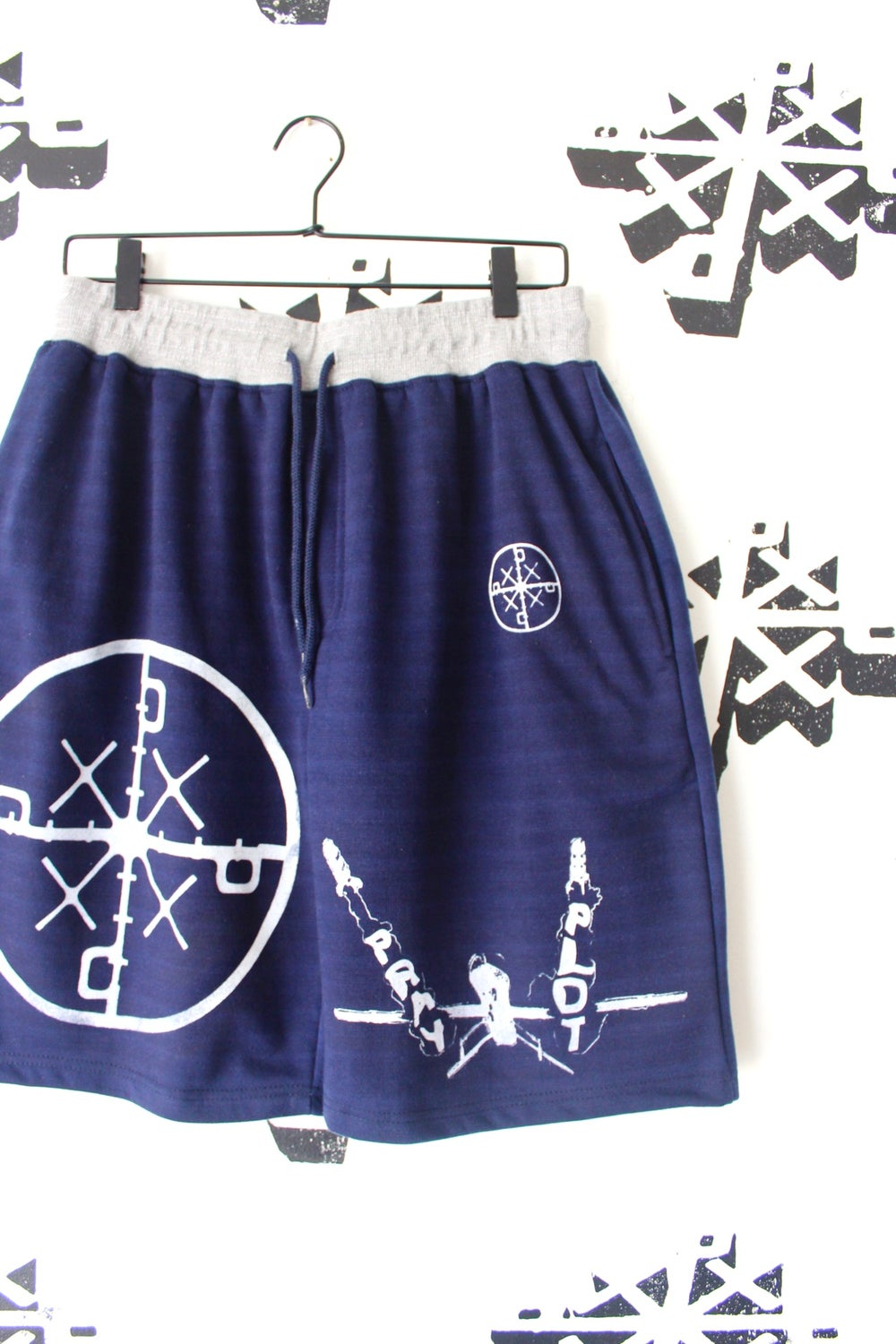 we got these too sweat shorts in navy
