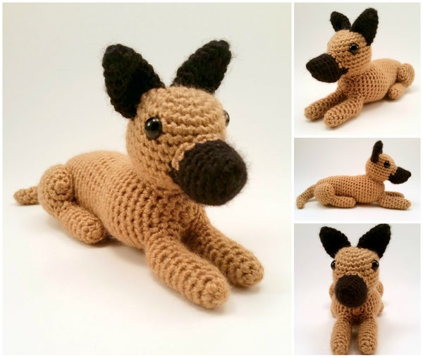 Image of Great Dane (Cropped Ears) - Realistic Crocheted Plush