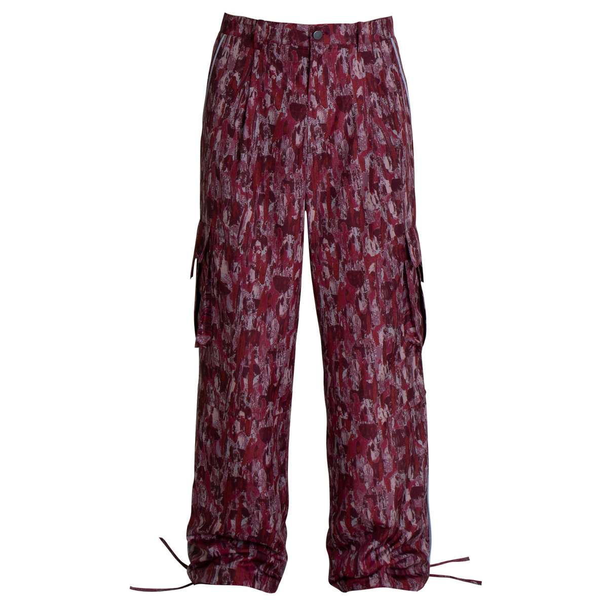 Image of FLAME PATTERN CARGO PANTS