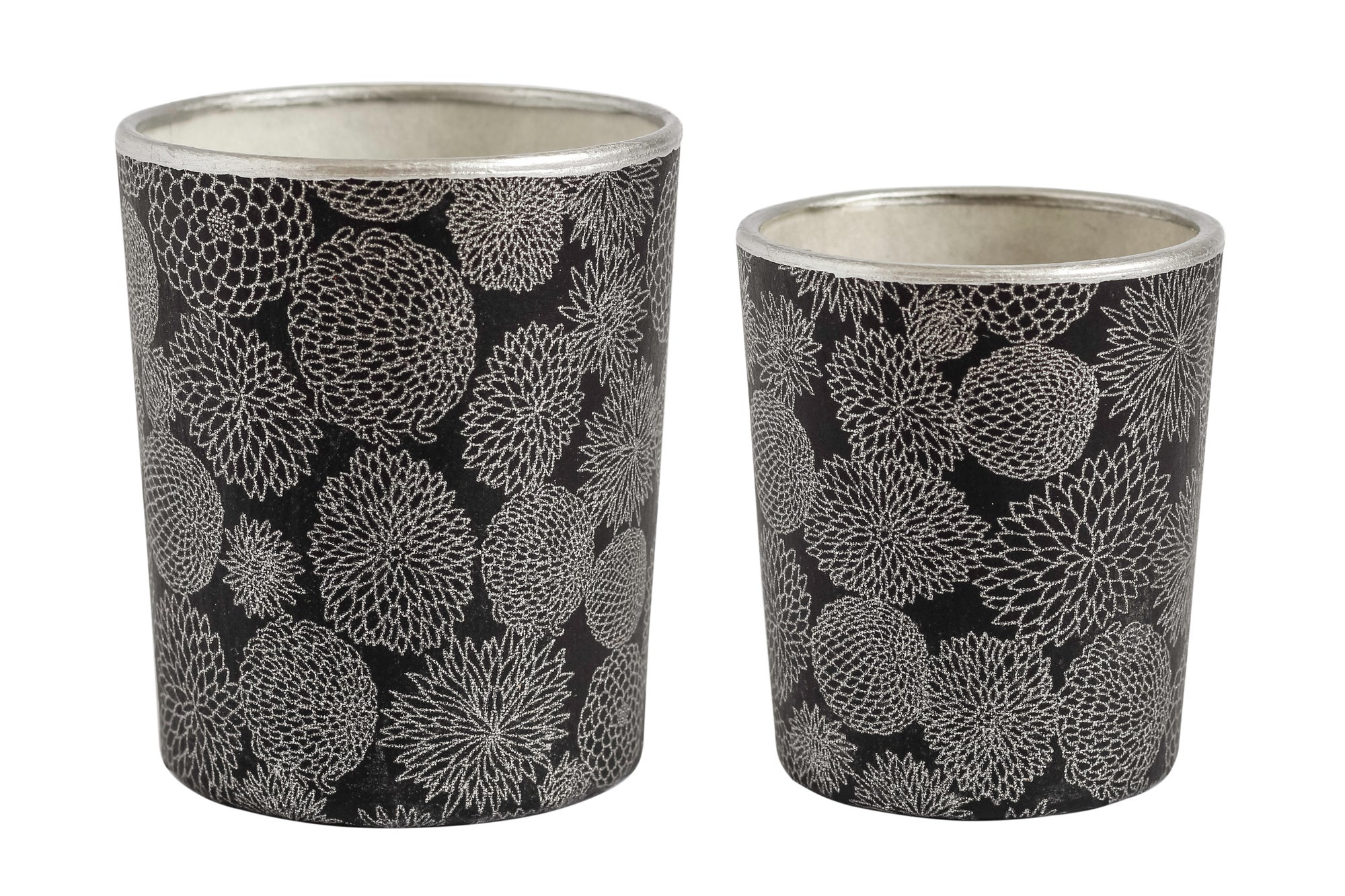 Image of Candle holders * Chrysanthemum * Silver