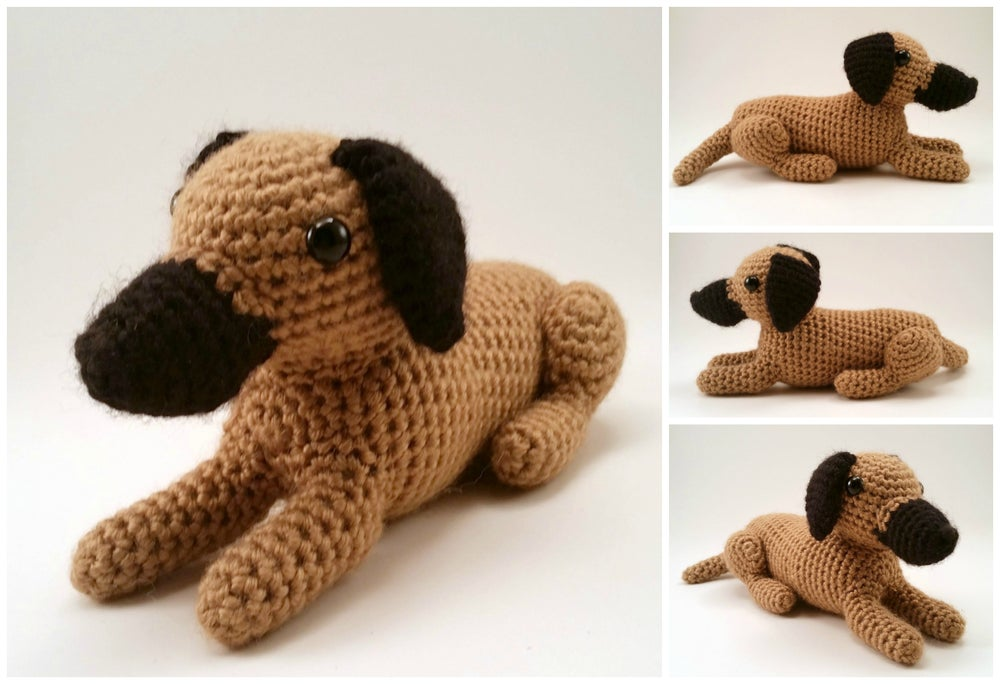 Image of Great Dane (Natural Ears) - Realistic Crocheted Plush