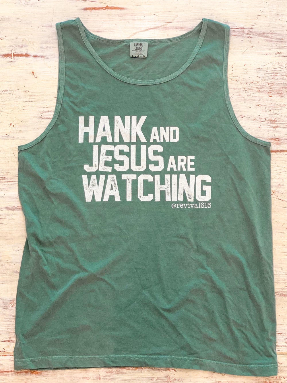 Image of Limited Edition Hank and Jesus Green Tank