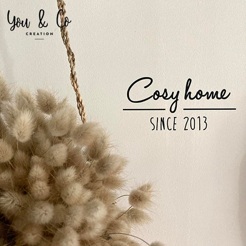 """Image of Sticker personnalisable """"Cosy home SINCE ..."""" ou """"Happy home SINCE ..."""""""