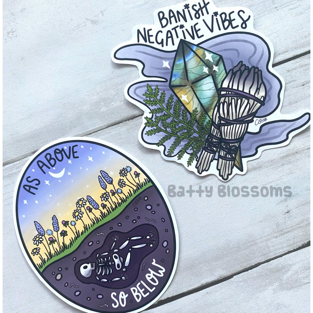 Witchy Vibes LARGE Vinyl Stickers (Single)
