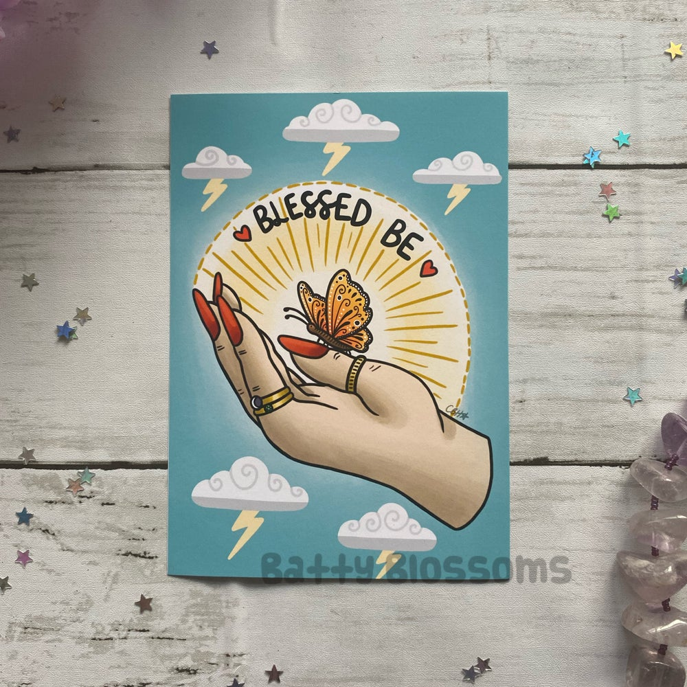 'Blessed Be' Witchy Vibes Print