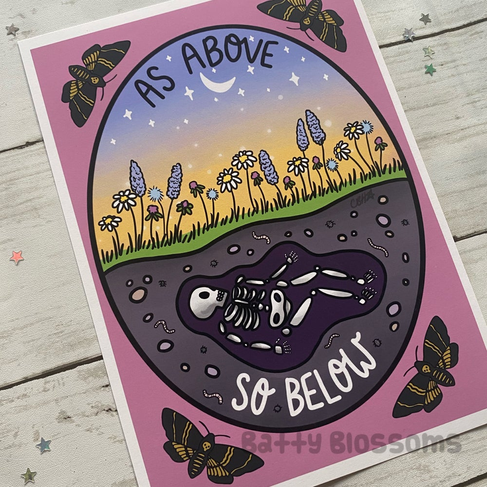 'As Above, So Below' Witchy Vibes Print
