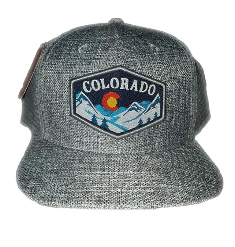 Image of GREY COLORADO STATE MESHBACK SNAPBACK HAT