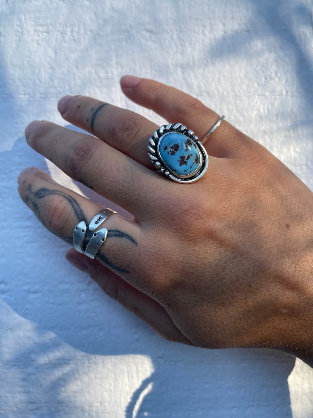Image of Lavender Turquoise Adjustable Ring