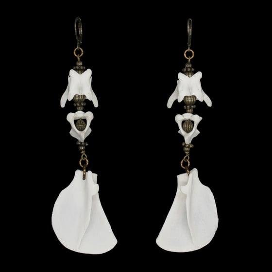 """Image of """"Mitra"""" Kitten Bone Earrings"""