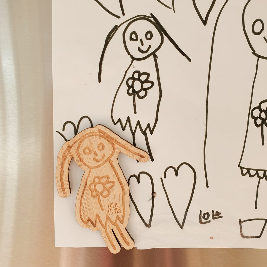 Image of Custom Kids Art Magnets
