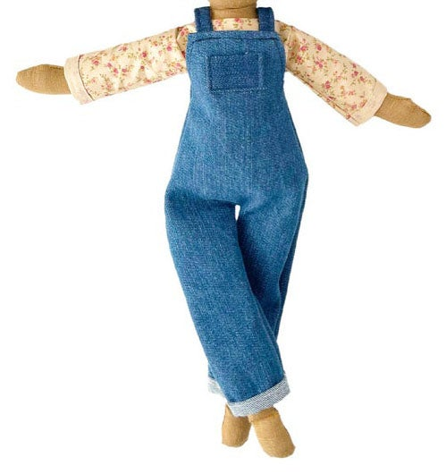 Denim overall with blouse 2pc set (Waitlist Preorder Item - ship date Oct 1-Mar 30,2022)
