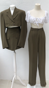 Olive Green Three Piece Suit