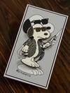 Tough dog hard enamel pin