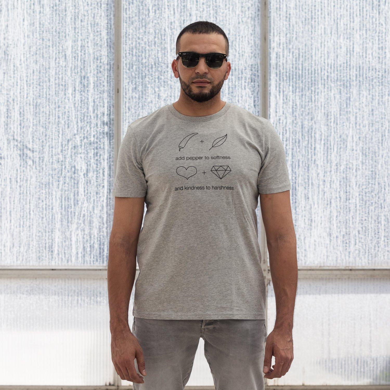 Image of T-SHIRT MAN short sleeve ADD PEPPER grey