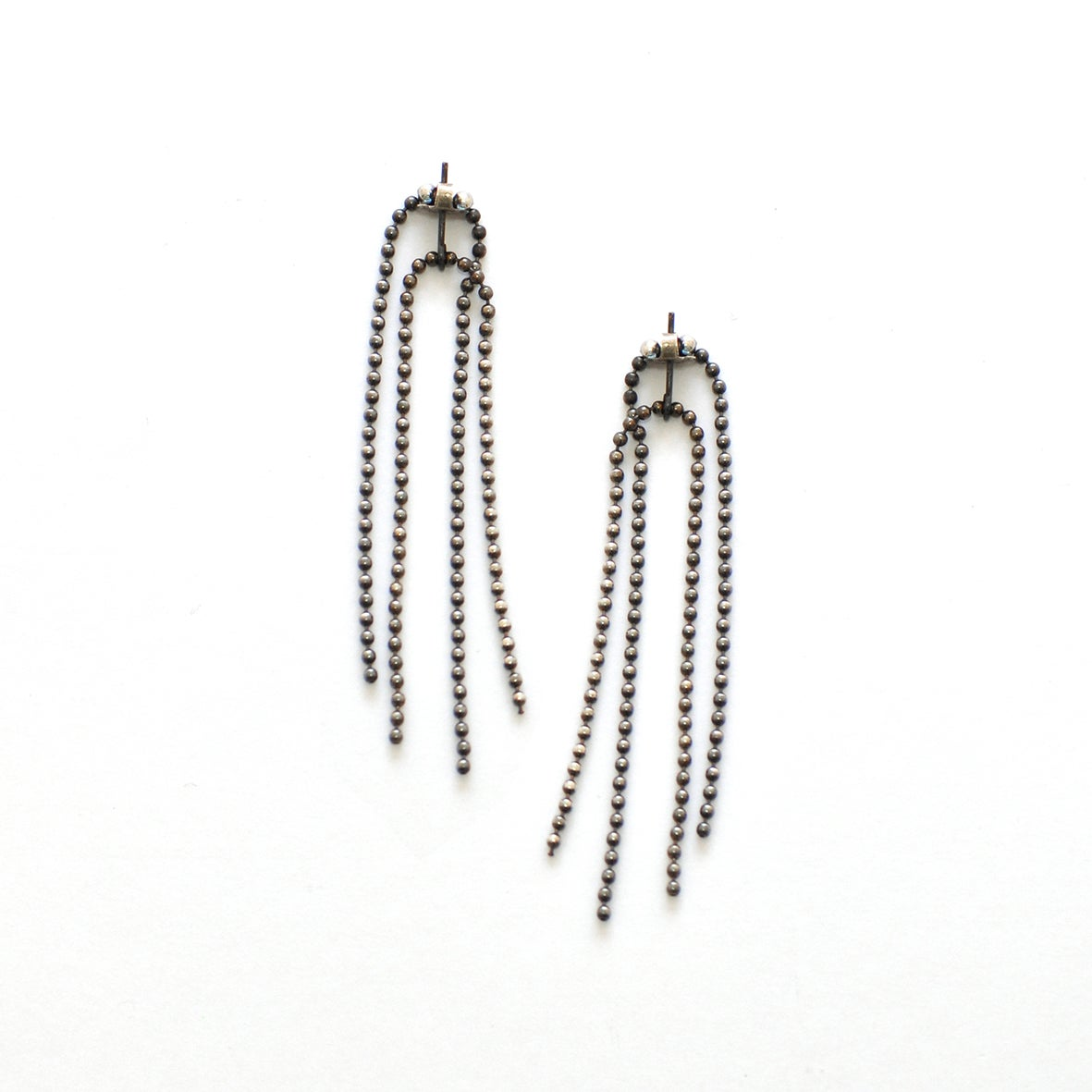 Image of SIMPLE SILVER front+back earrings