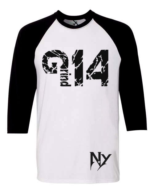 Image of EXCLUSIVE BLACK/WHT N RED/WHT 3QRT TEE