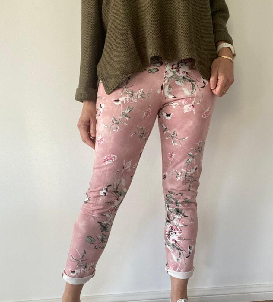 Image of Carolyn Floral Pants Pink