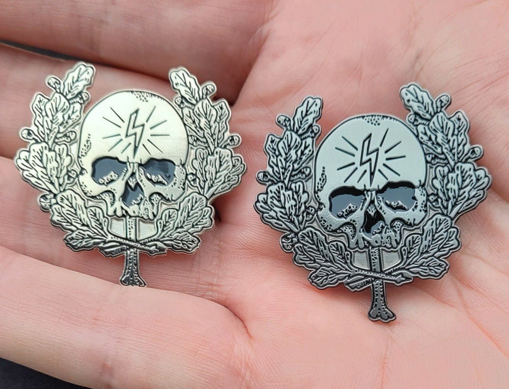 Image of Deathcult (VI) Limited edition shaped enamel pin