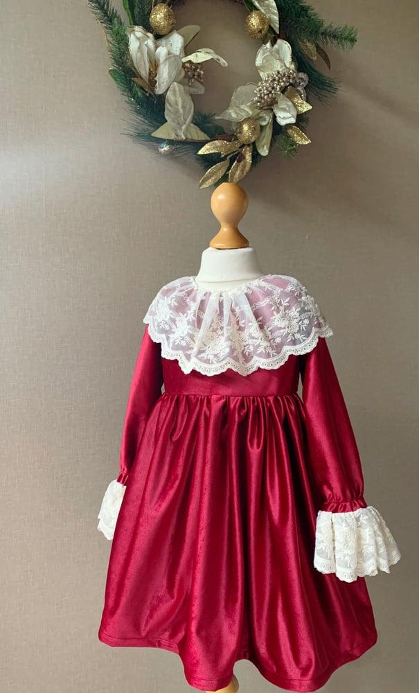 Image of Pomegranate lace dress