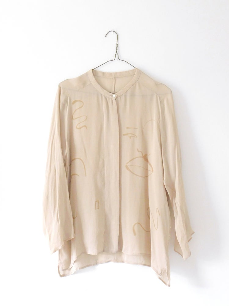 Image of mink chic blouse