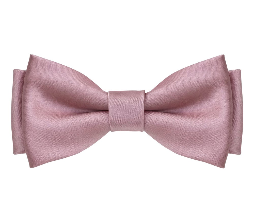 Image of Pink Satin pre-tied Bow Tie