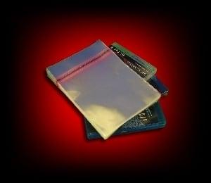 Image of 50 Pochettes plastique polypropylène pour boitiers BLU RAY 14mm [rabat adhésif]