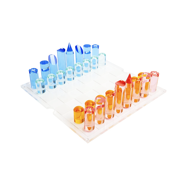 Image of Lucite Chess & Checkers