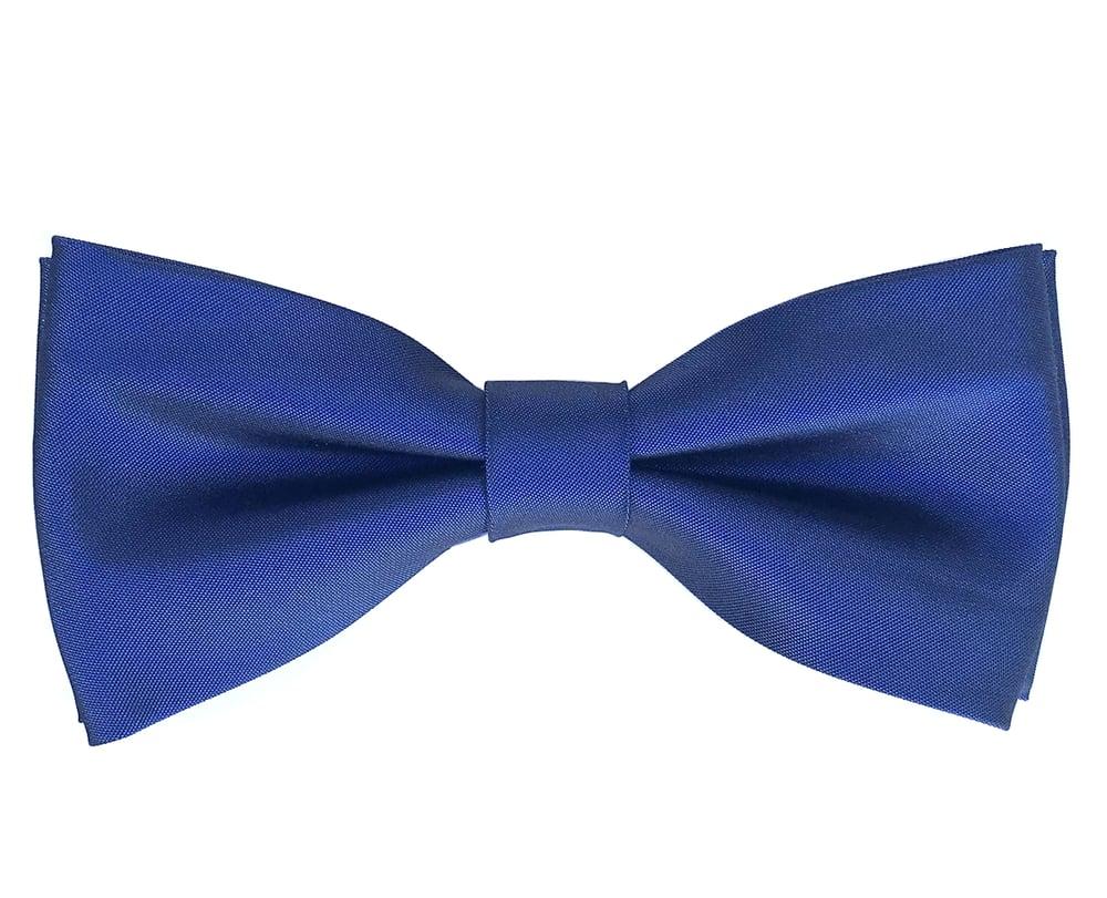 Image of Blue pre-tied Satin bow tie