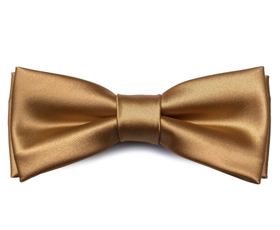 Image of Cognac Satin bow tie