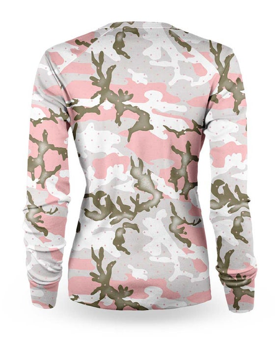 Image of Camo Pink womens long sleeve jersey