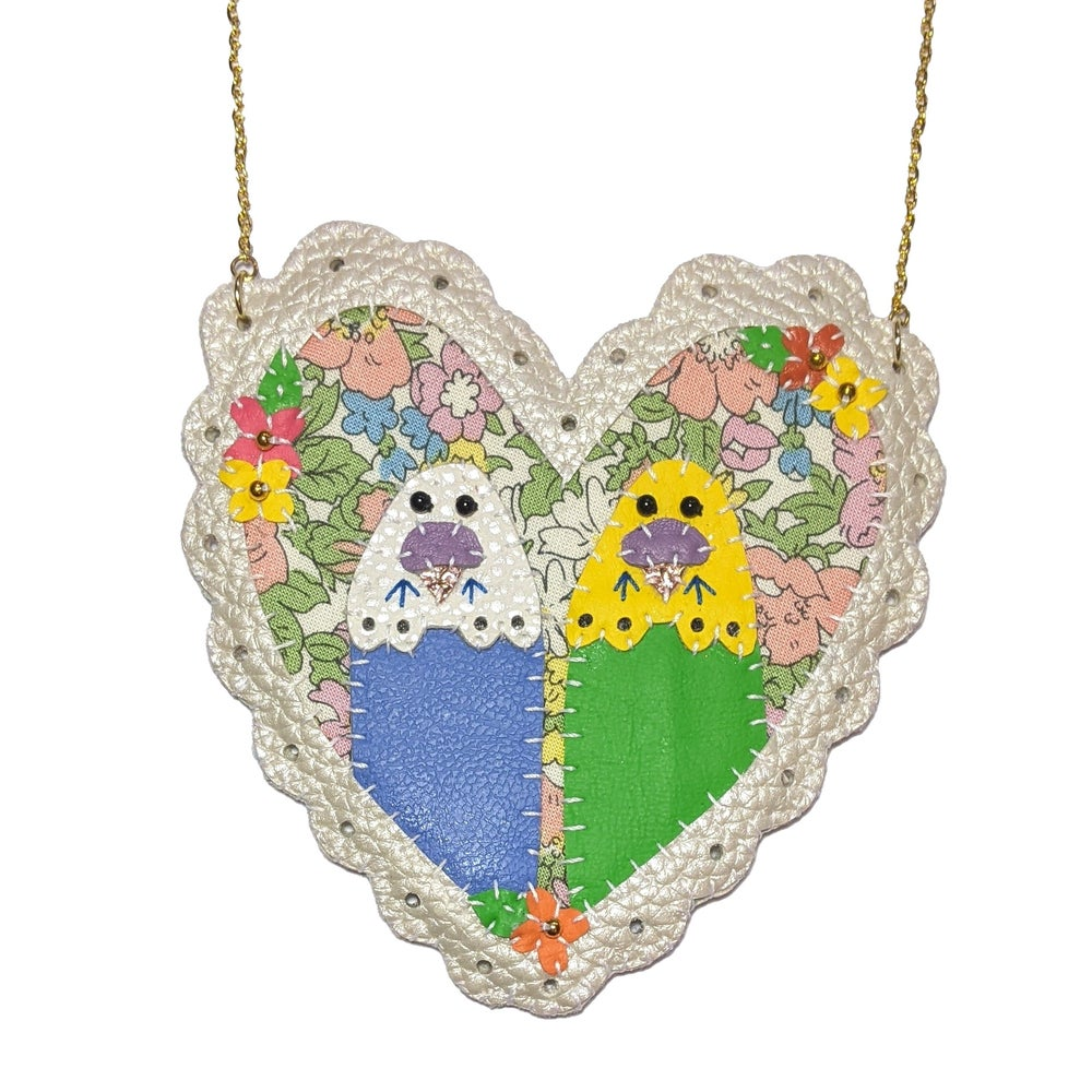Image of Double Budgie Love Necklace