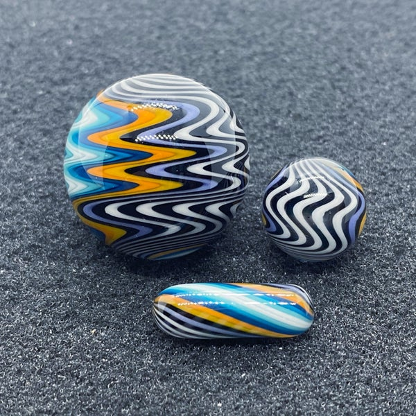 Image of Nephilim Glass Line Worked Marble Set #1