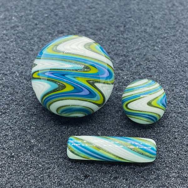 Image of Nephilim Glass Line Worked Marble Set #3