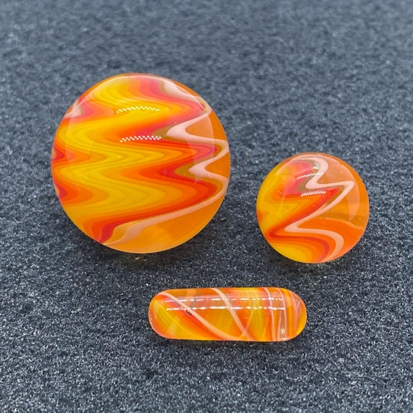 Image of Nephilim Glass Line Worked Marble Set #4