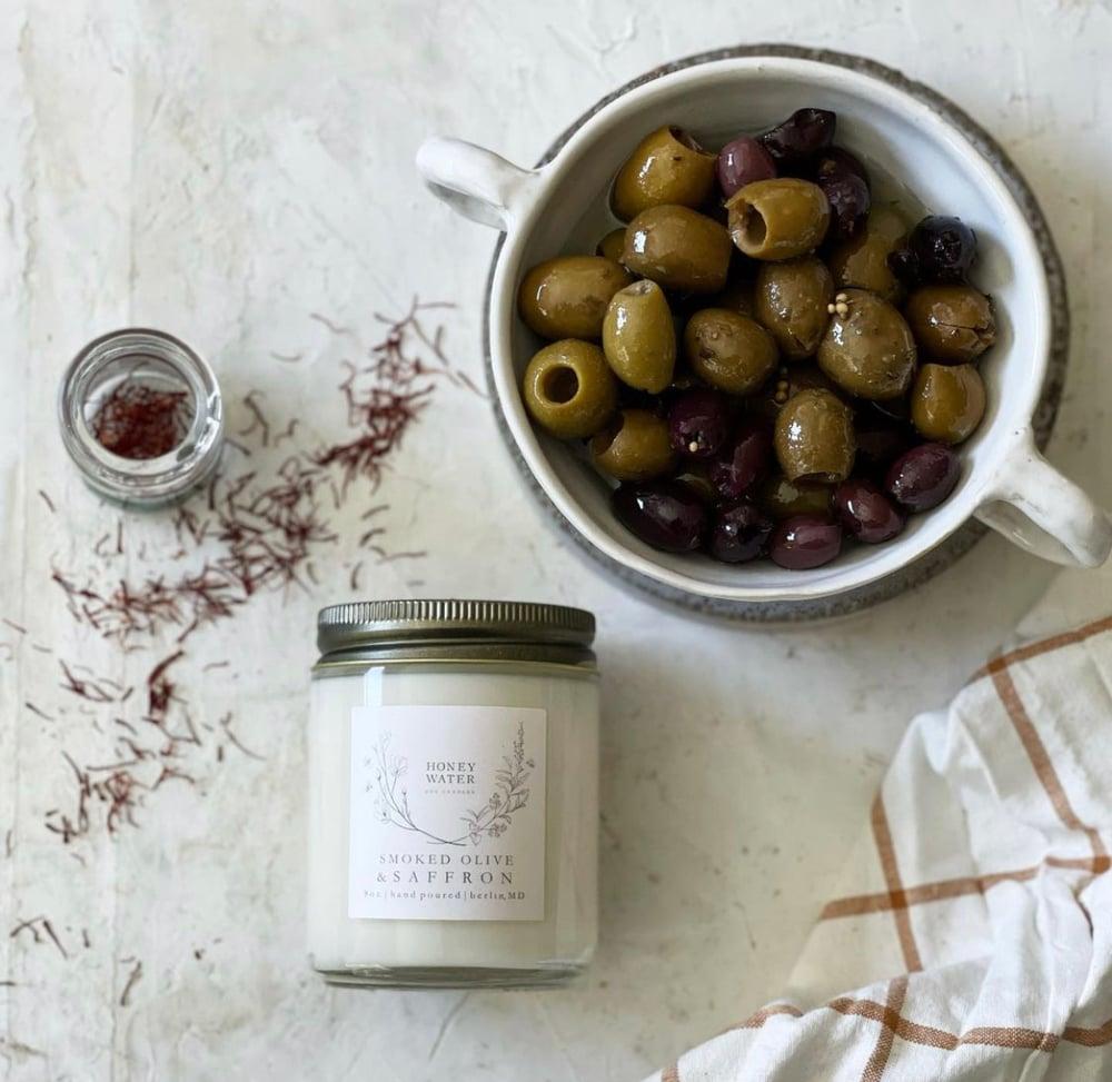 Image of Smoked olive & saffron