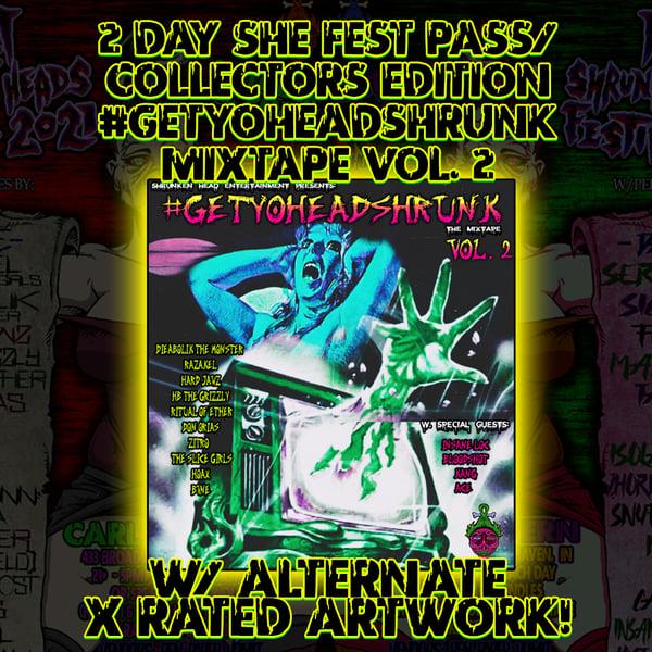 Image of NIGHT OF THE SHRUNKEN HEADS FESTIVAL 2 DAY PASS/#GETYOHEADSHRUNK MIXTAPE (CD) *FREE SHIPPING*
