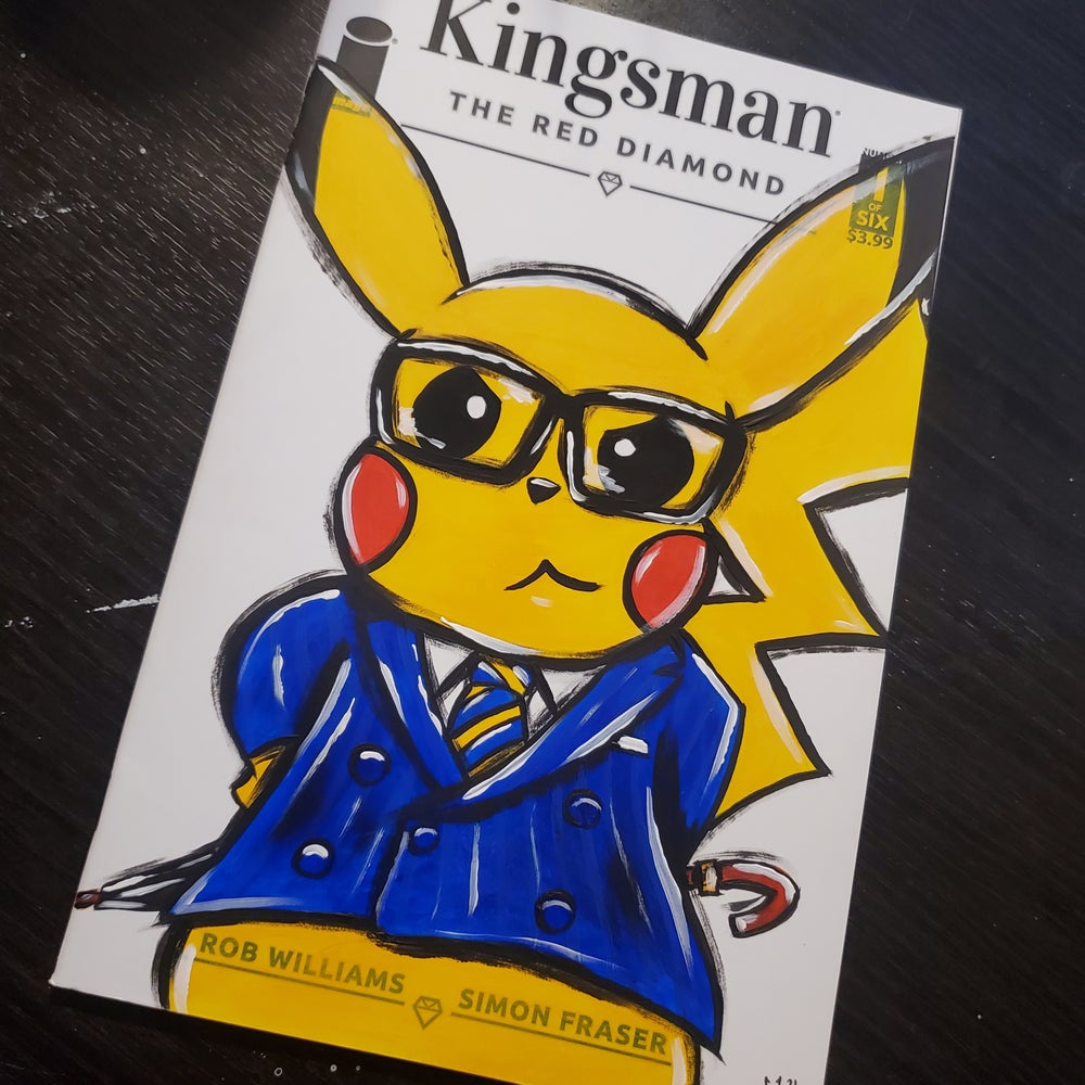 """""""Manners Maketh Pika"""" Hand Painted Comic Cover"""