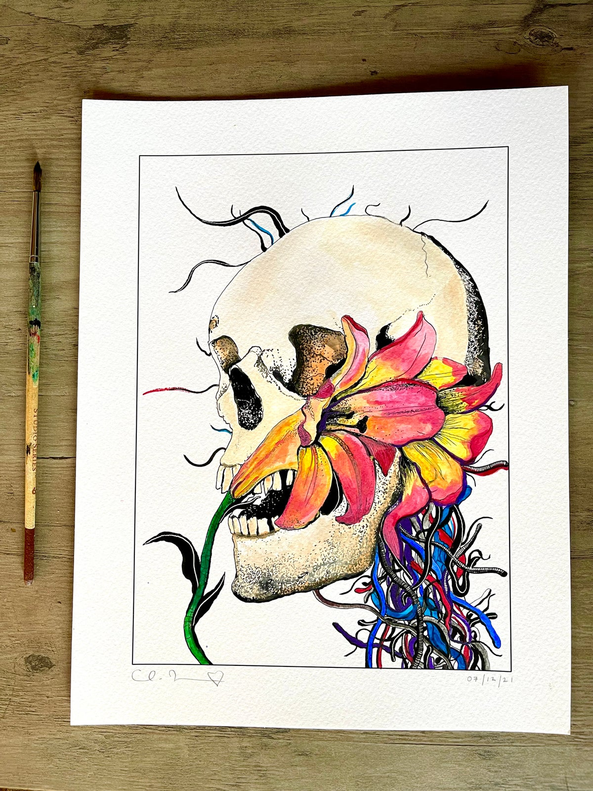 Image of 'Another Daydream' + Hand Painted Watercolor Accents