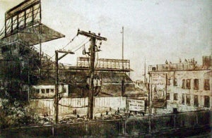 """Image of """"Wrigley Field"""", View from Addison Station"""
