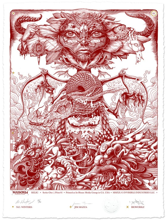 "Image of ""Relic"" Maison54 Collaborative Print"