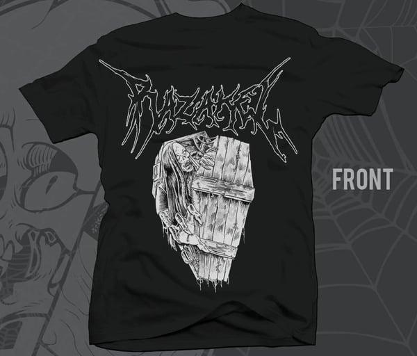 """Image of Razakel """"CRYPT"""" BNW Shirts w/ Back Print SHE Logo"""
