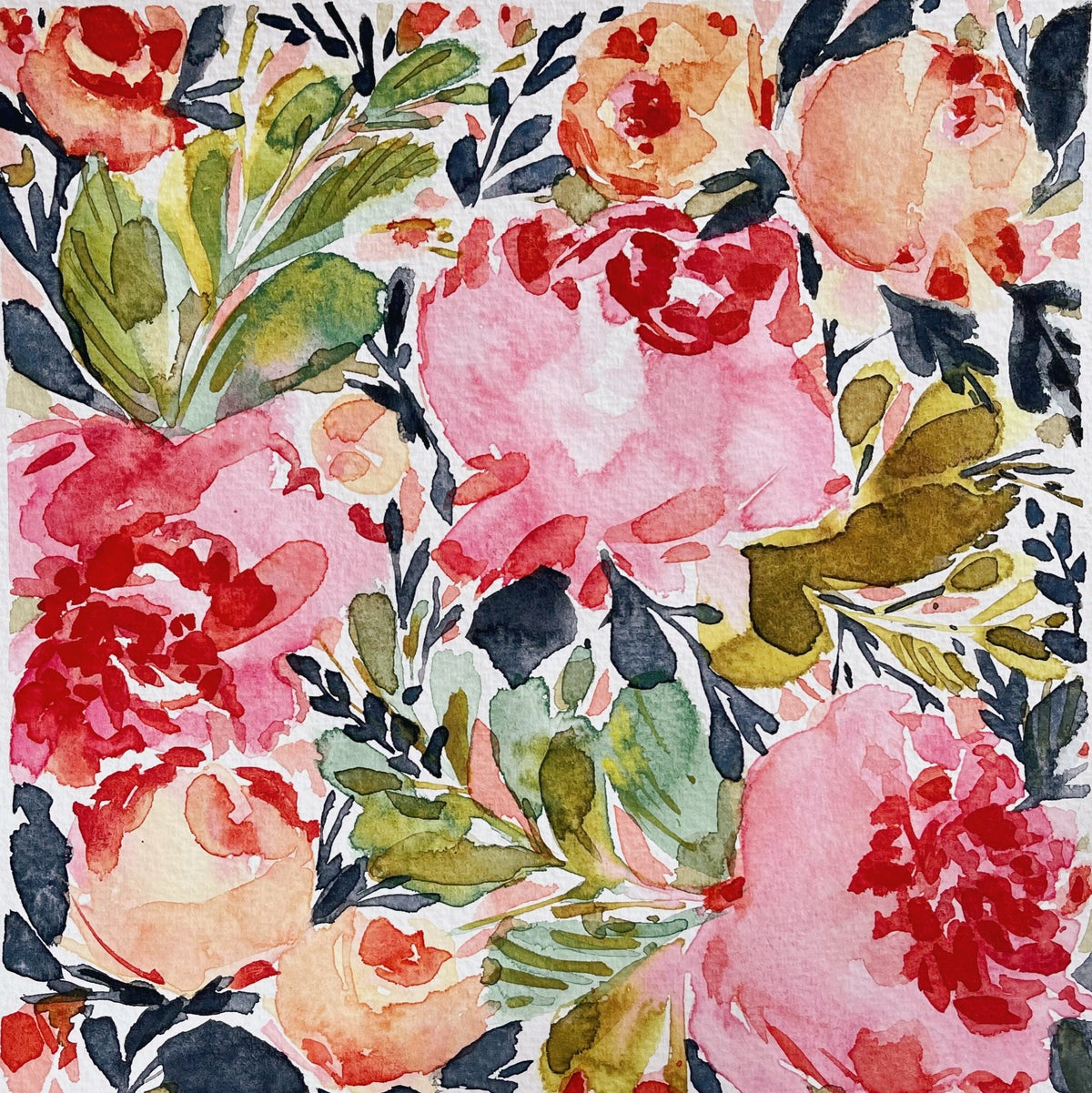 Image of Learn How to Paint Watercolor Flower Pattern (NOT LIVE)