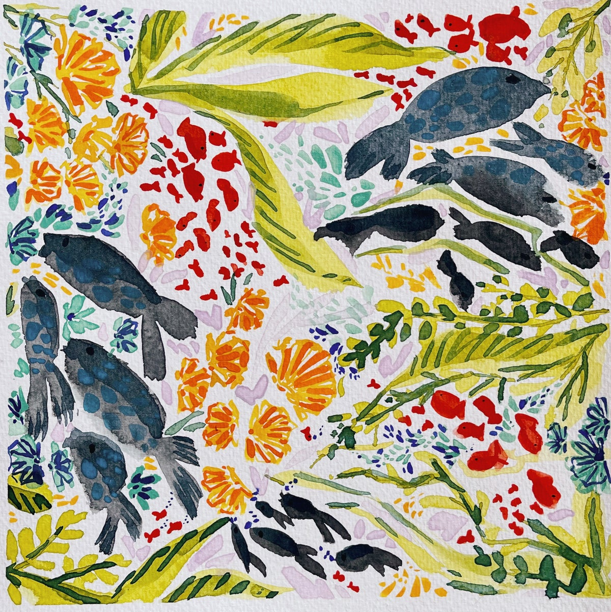 Image of Learn How to Paint Under the Seat Watercolor Pattern (LIVE)