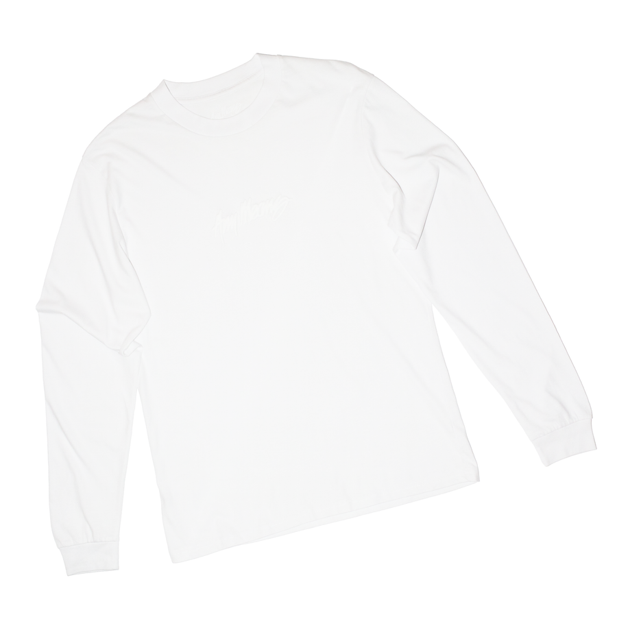 Image of Signature Longsleeve Tee in White