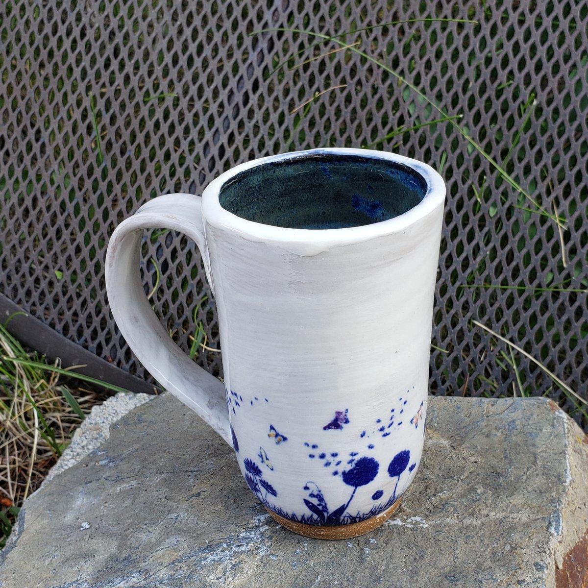 Image of Butterfly Friend Tall Mug: Blue