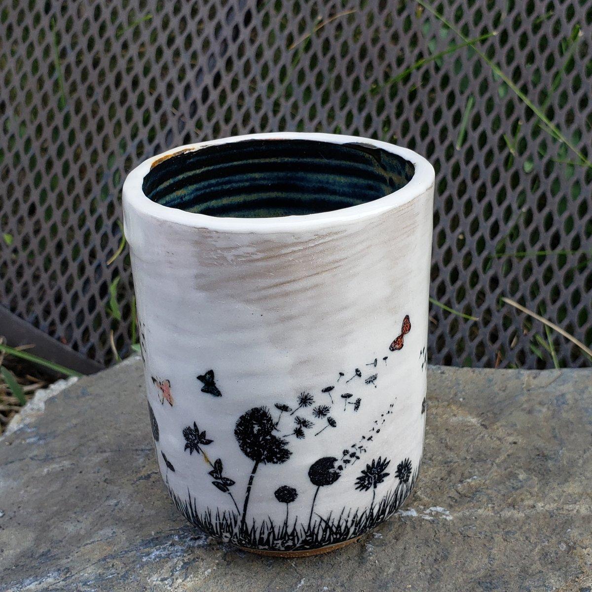 Image of Butterfly Friend Small Mug: Black